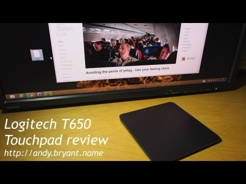 Logitech T650 тачпед для Windows 8 обзор
