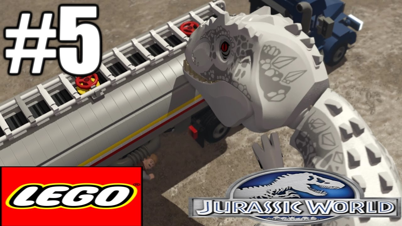 Lego Jurassic World Gameplay Playthrough Part 5 - Indomnius Rex (PC)