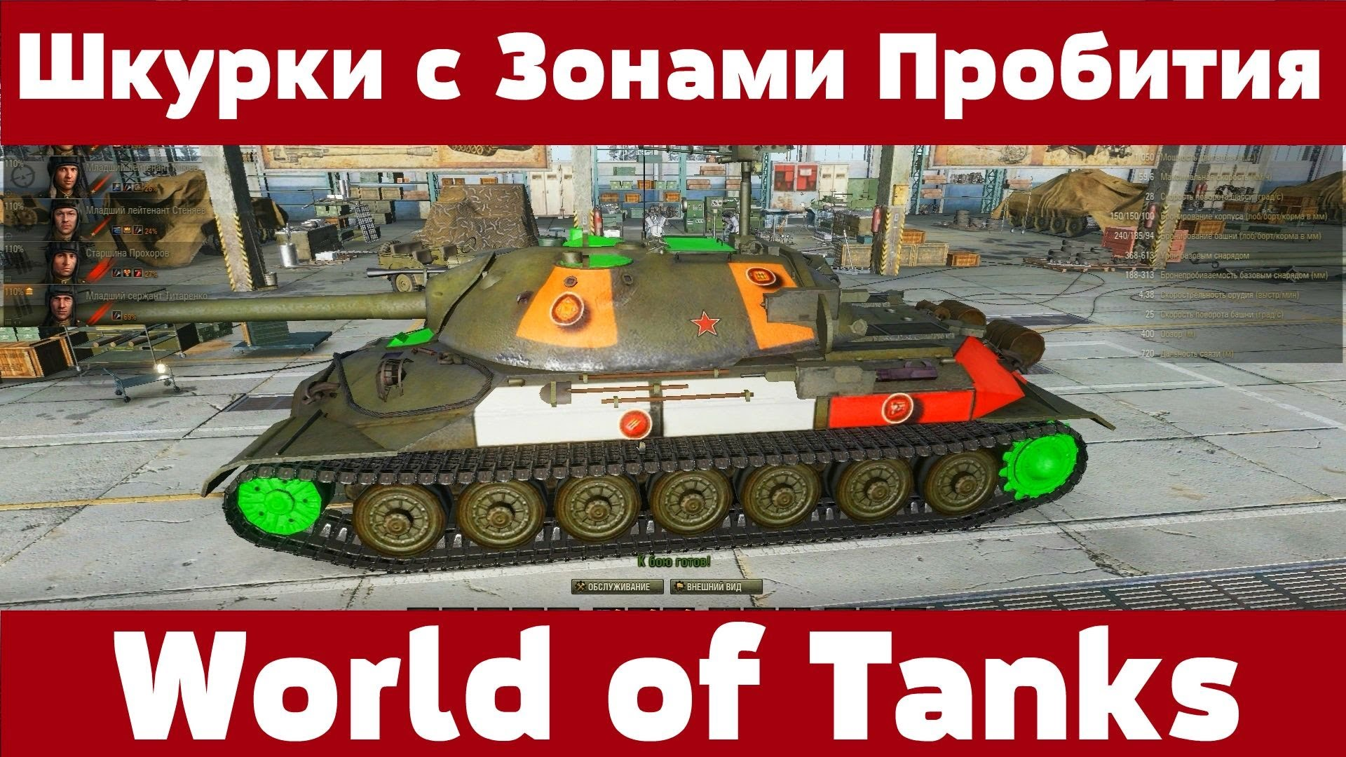Зоны пробития tanks of world